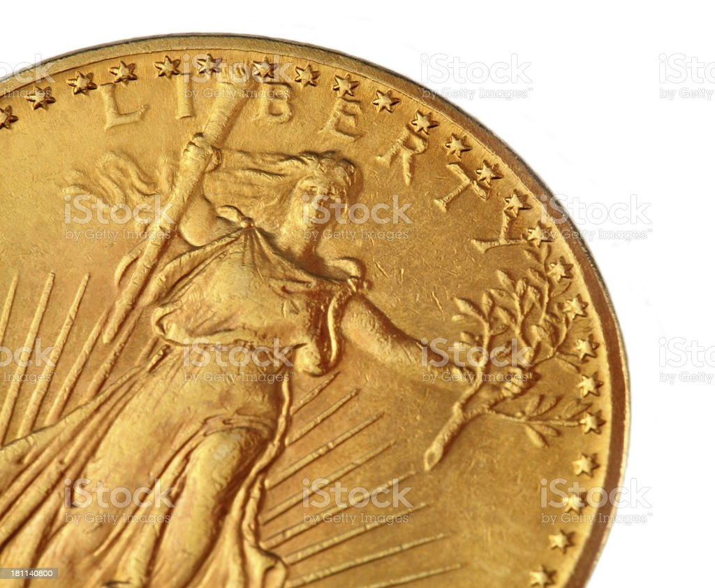 Double Eagle Gold Coin stock photo