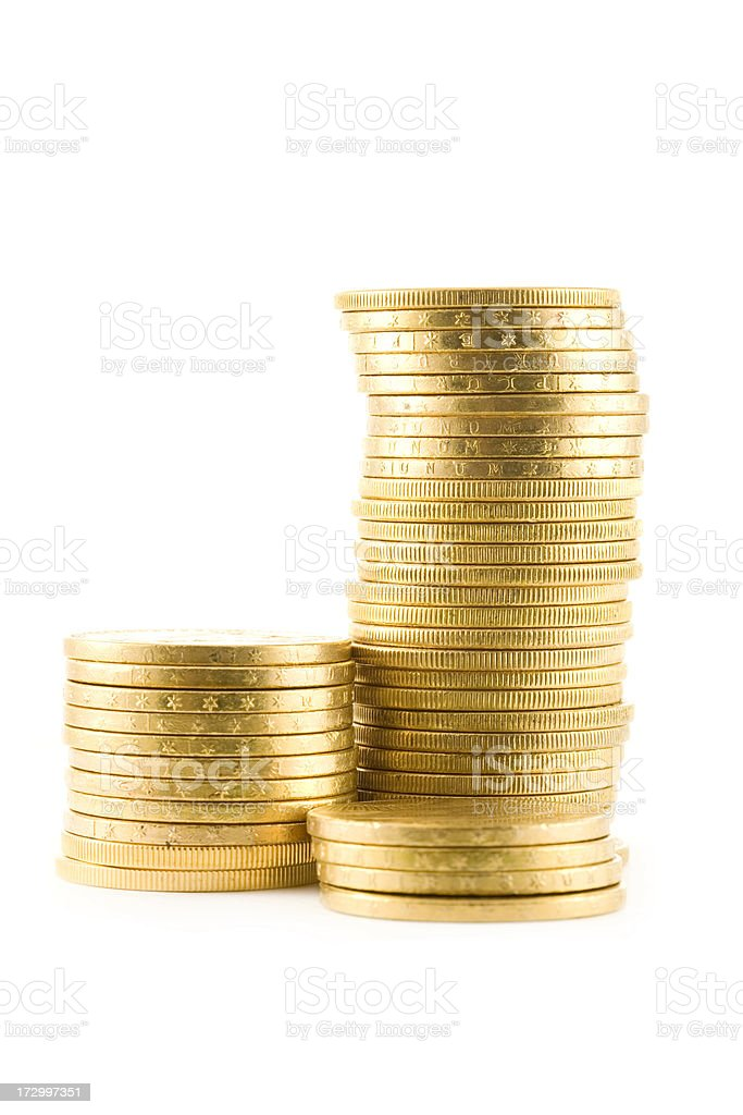 Double Eagle Gold Coins stock photo