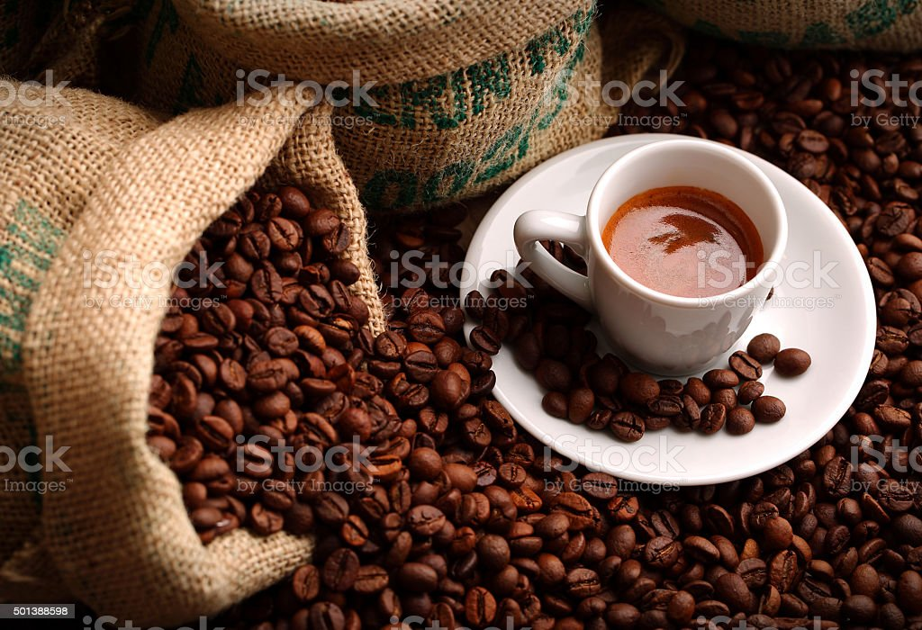 double espresso stock photo