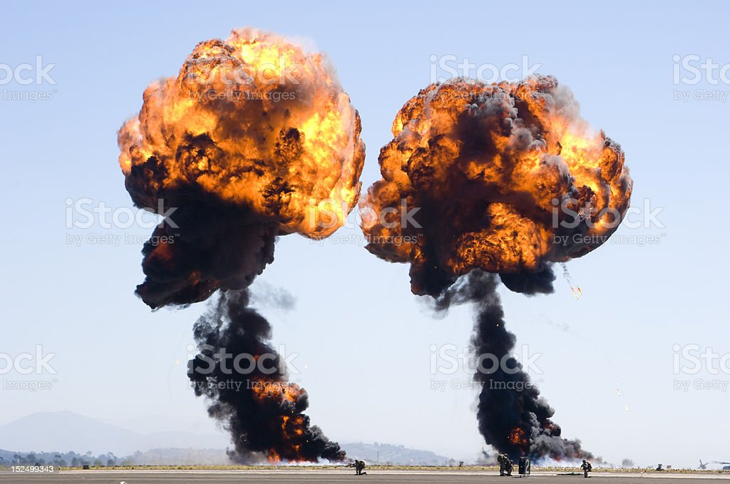 double explosion royalty-free stock photo