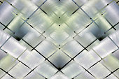 Double exposure photo of matte textured colorful ceiling / wall