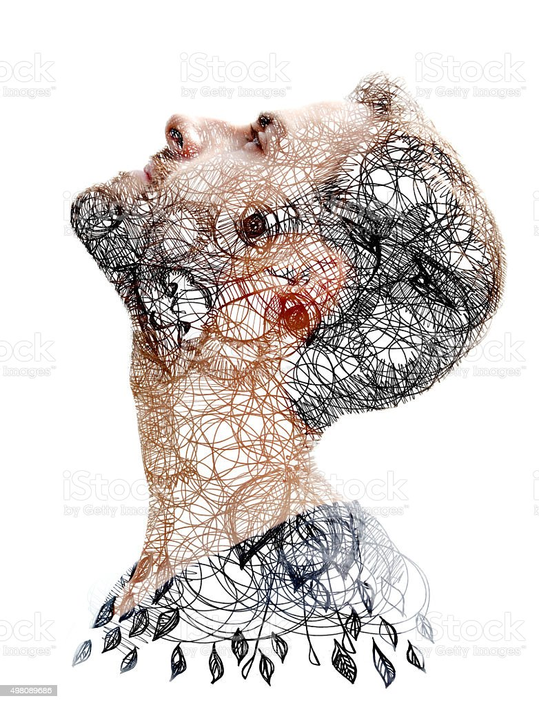 Double exposure stock photo