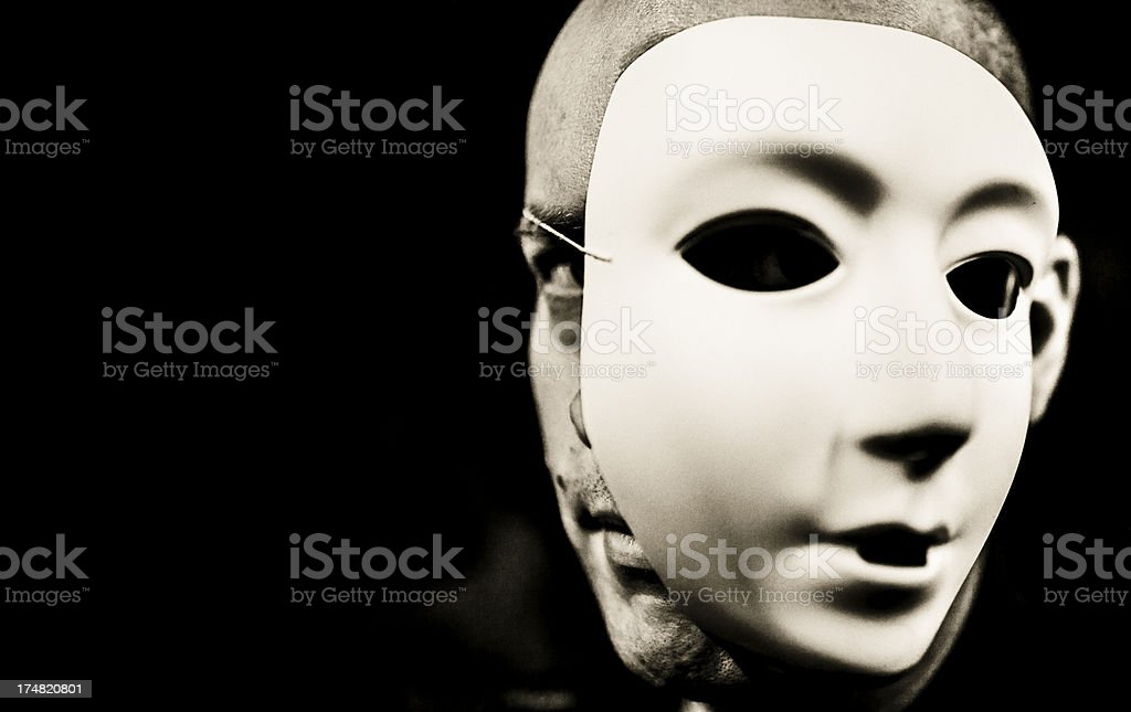 Double faced royalty-free stock photo