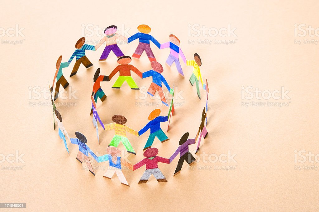 Double friendship circle royalty-free stock photo
