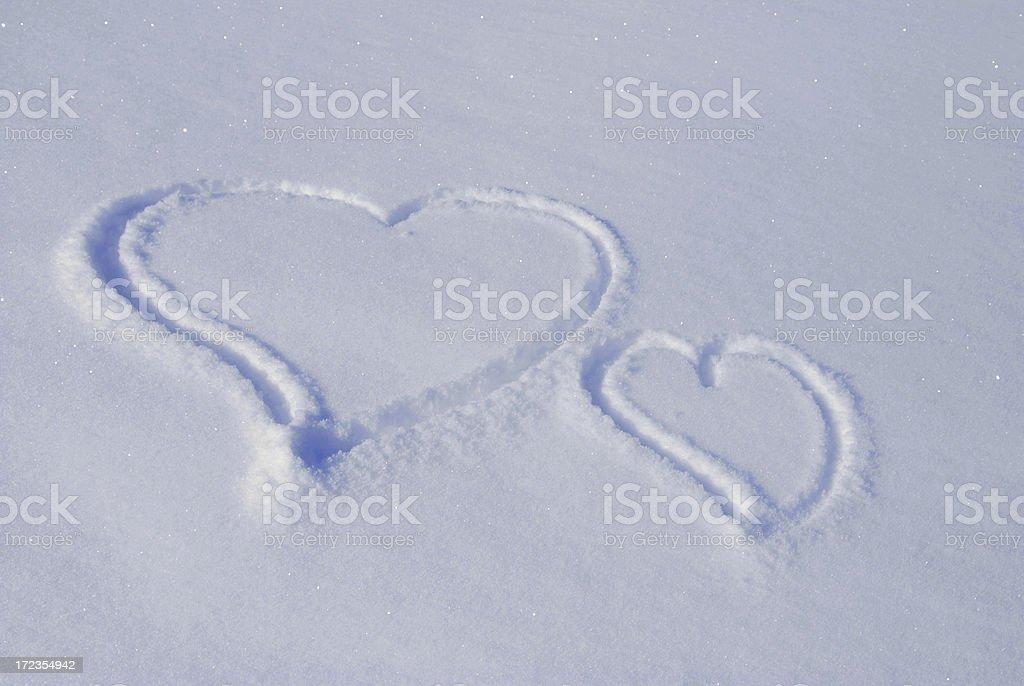 double heart royalty-free stock photo