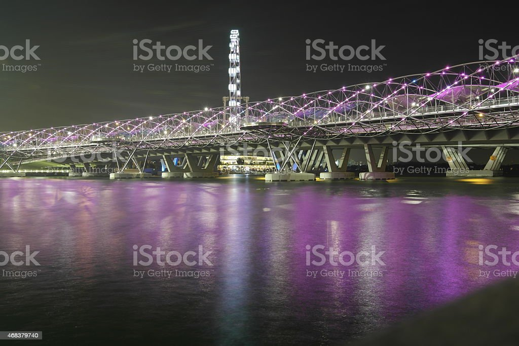 Double Helix Bridge in Singapore stock photo