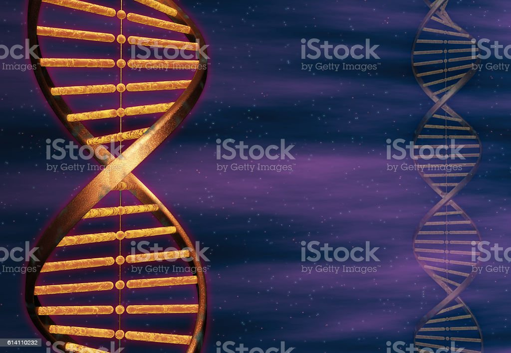 Double Helix DNA Strand stock photo