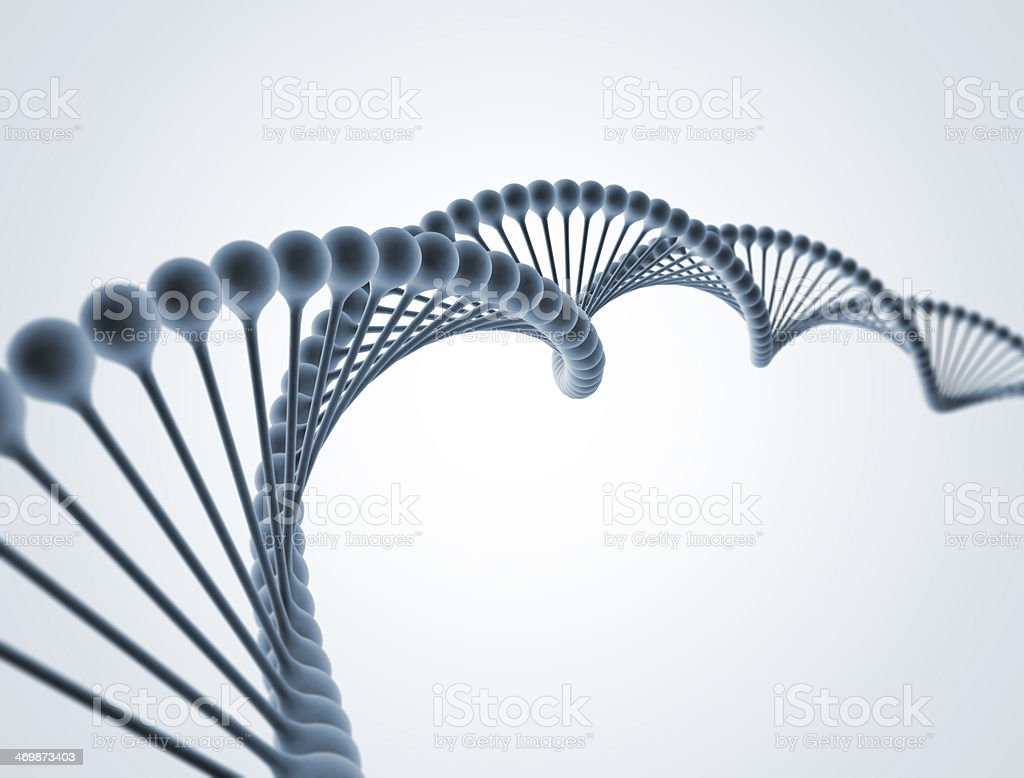 DNA Double Helix Molecular Structure stock photo