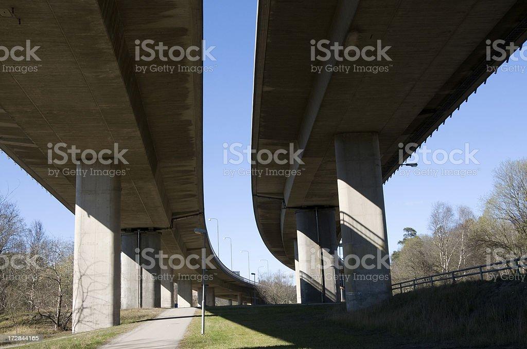 Double Highway bridge royalty-free stock photo
