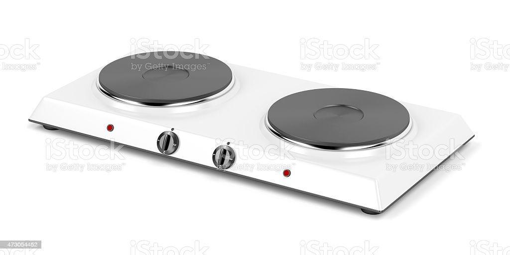 Double hot plate stock photo