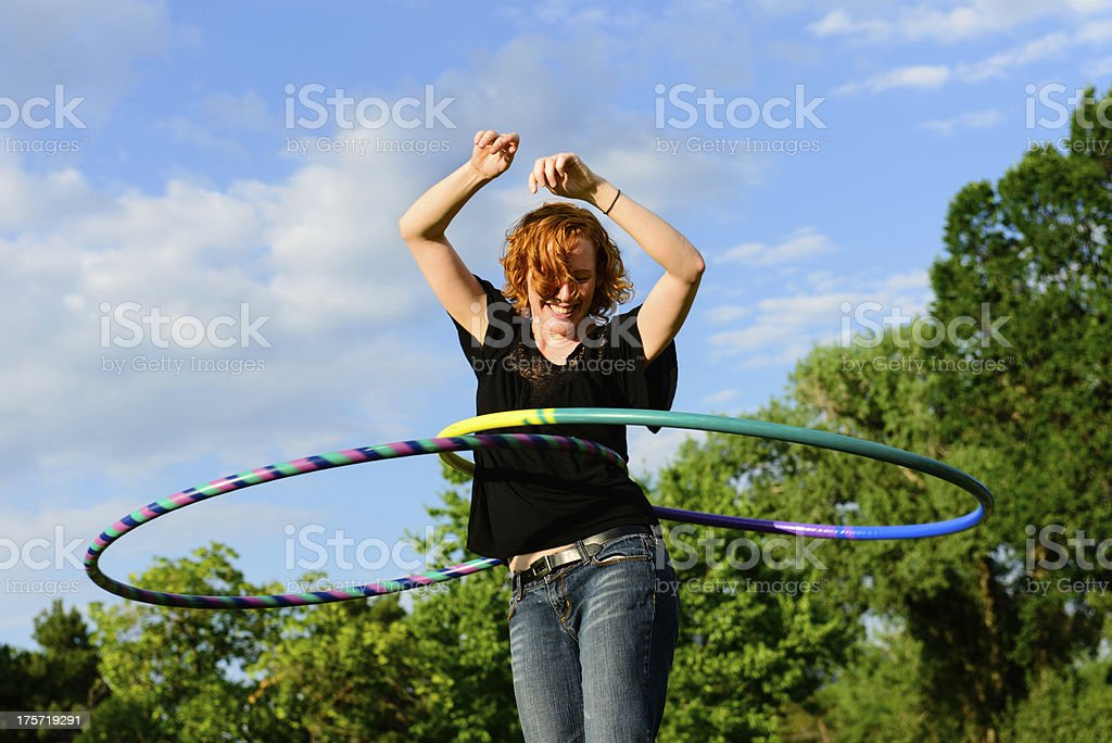 Double Hula-Hoop stock photo