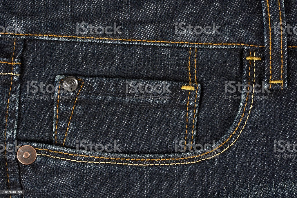 Double jeans pocket royalty-free stock photo