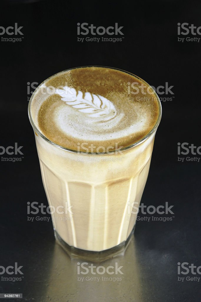 Double Latte with Art stock photo
