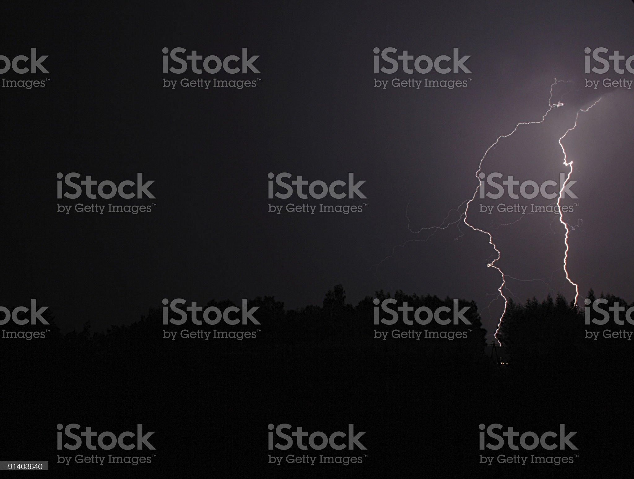 double lightning royalty-free stock photo