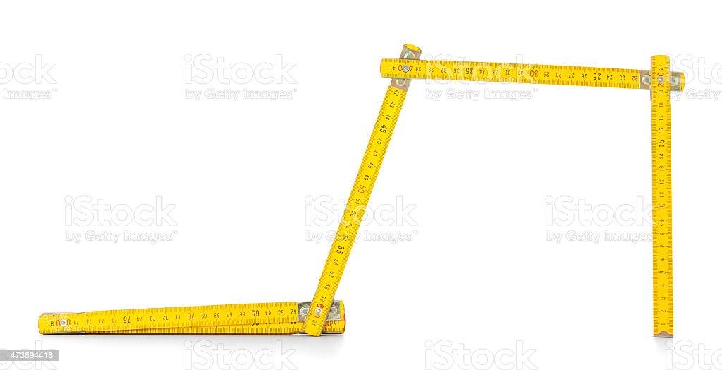 Double meter stick stock photo