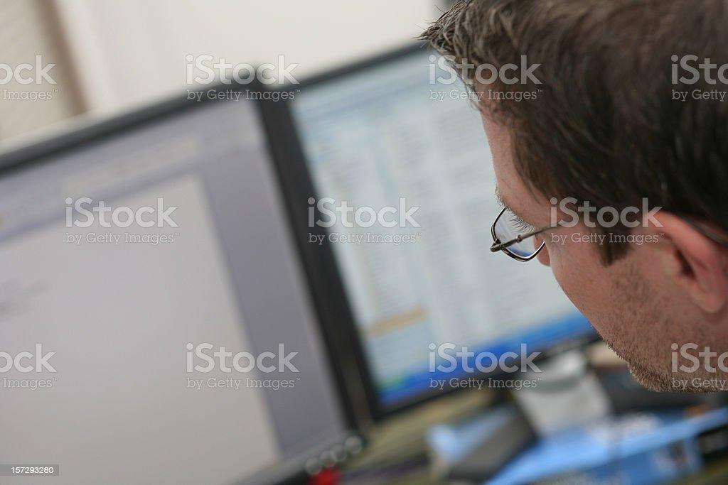 Double Monitors royalty-free stock photo