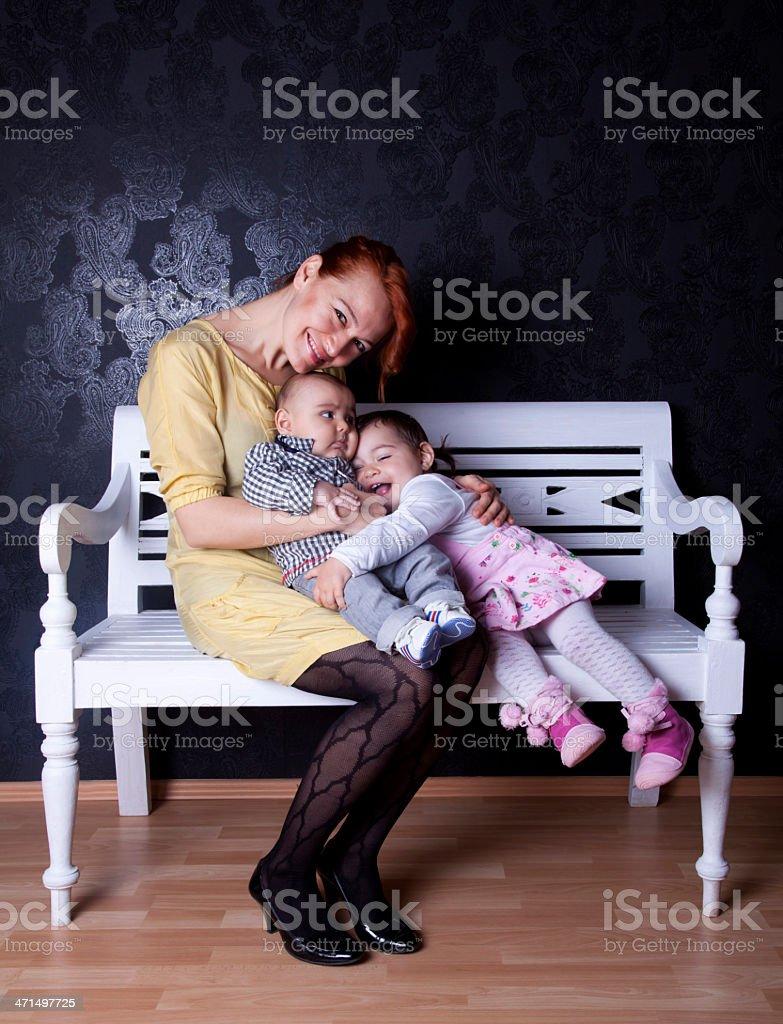 Double motherhood royalty-free stock photo