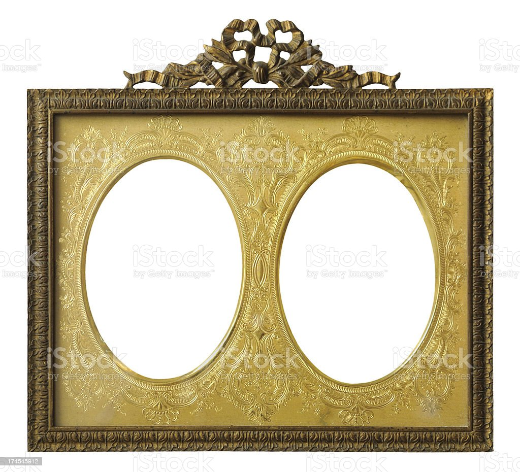 Double Oval Gold Frame royalty-free stock photo