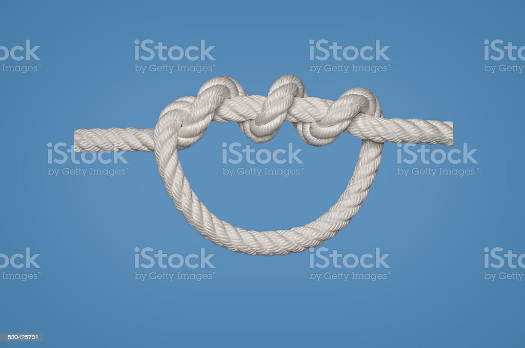 Double Overhand Knot stock photo
