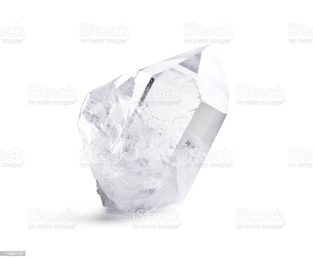 Double quartz crystal stock photo