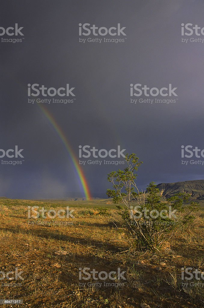 Double rainbow in a desert of Southern Utah royalty-free stock photo