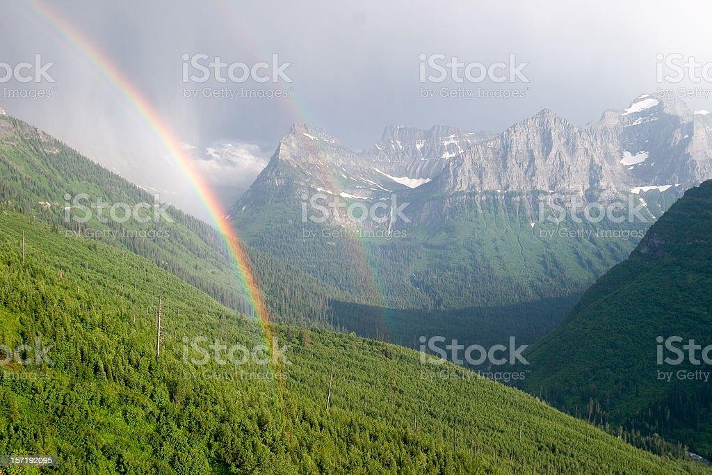 Double Rainbow in Paradise stock photo
