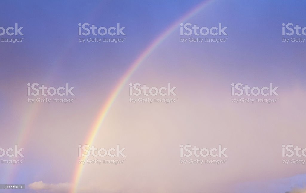 Double Rainbow on blue sky royalty-free stock photo