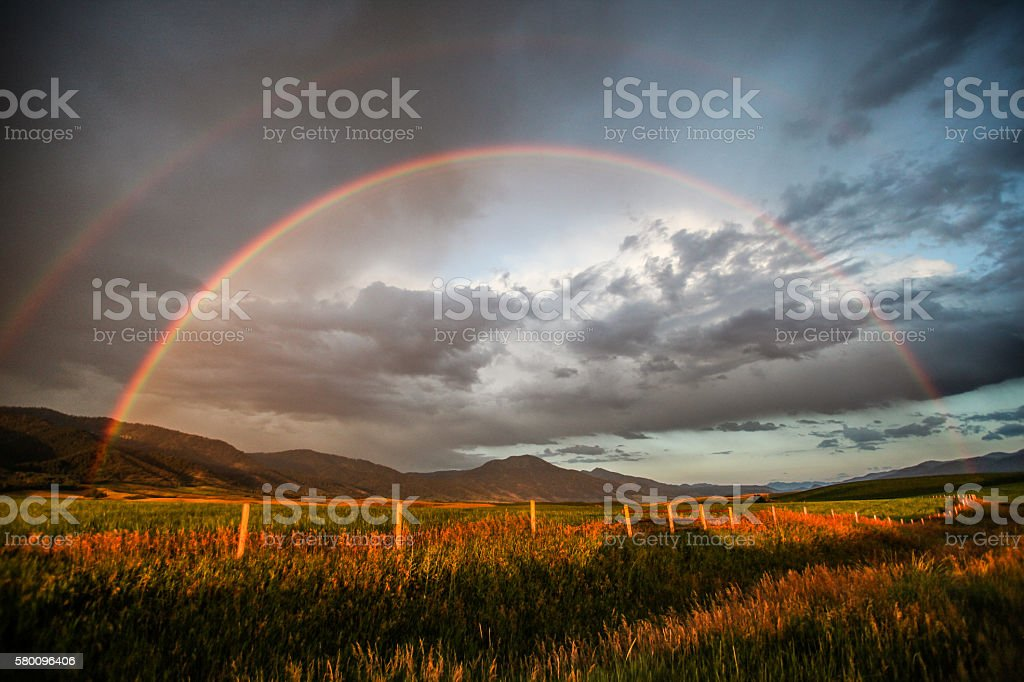 Double Rainbow stock photo
