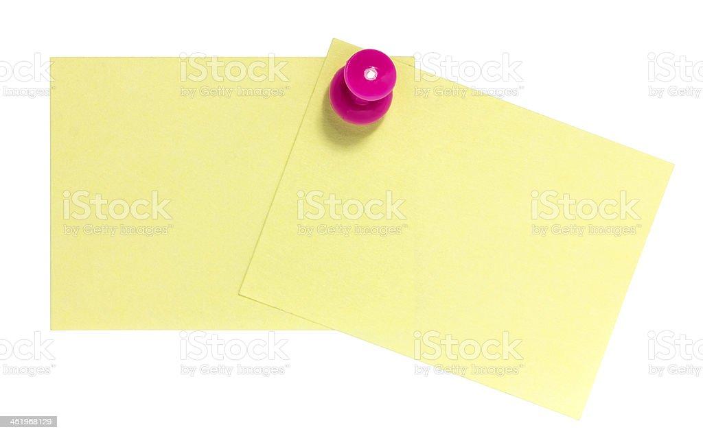 Doppio rettangolare foglietto adesivo con Rosa pin foto stock royalty-free