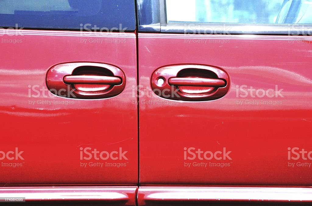 Double Red Doors royalty-free stock photo