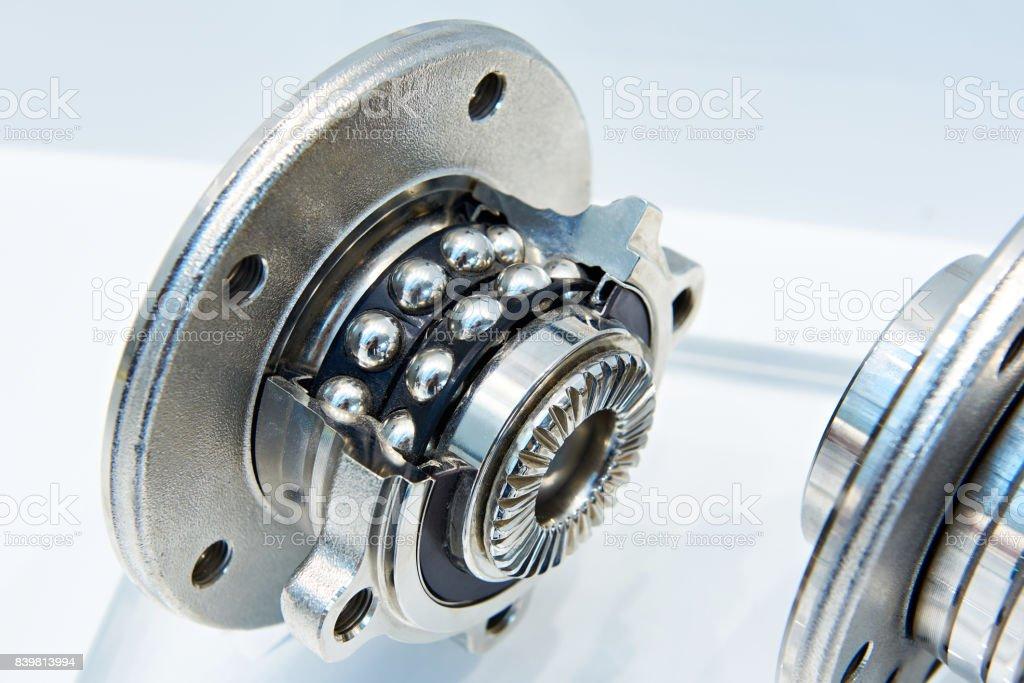 Double row angular contact wheel bearing stock photo