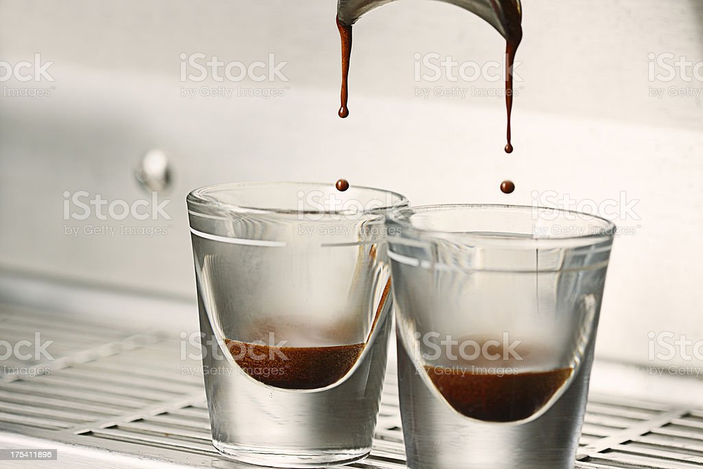Double Shot of Espresso stock photo