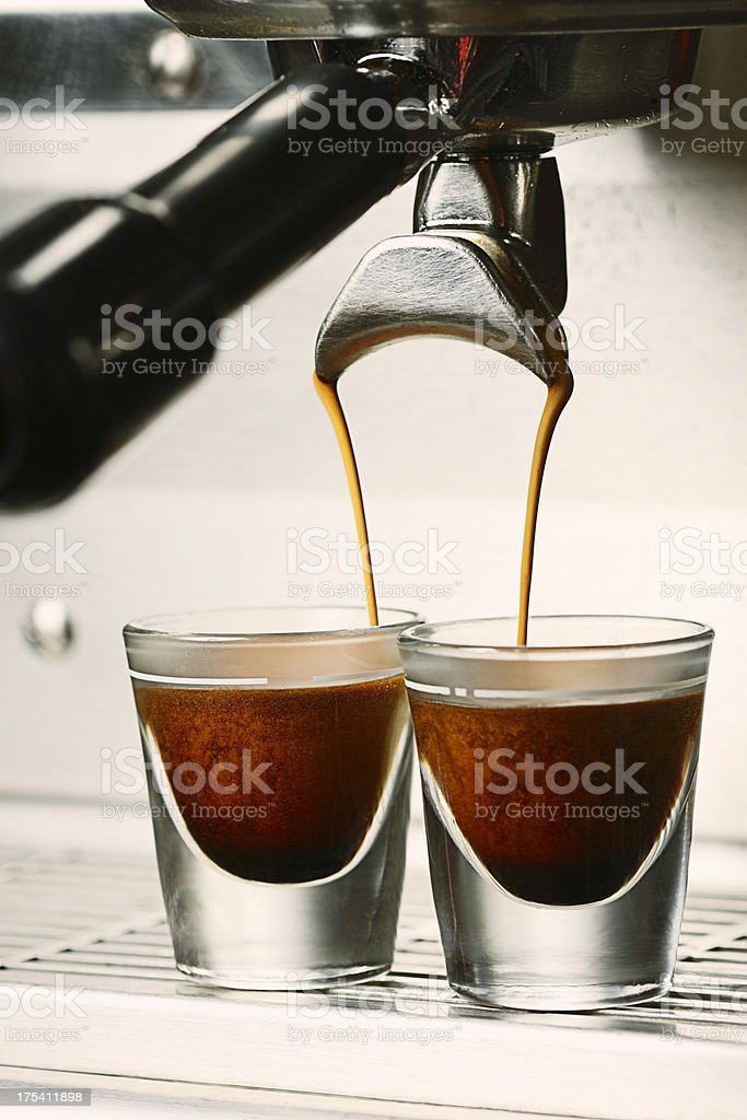 Double Shot of Espresso royalty-free stock photo