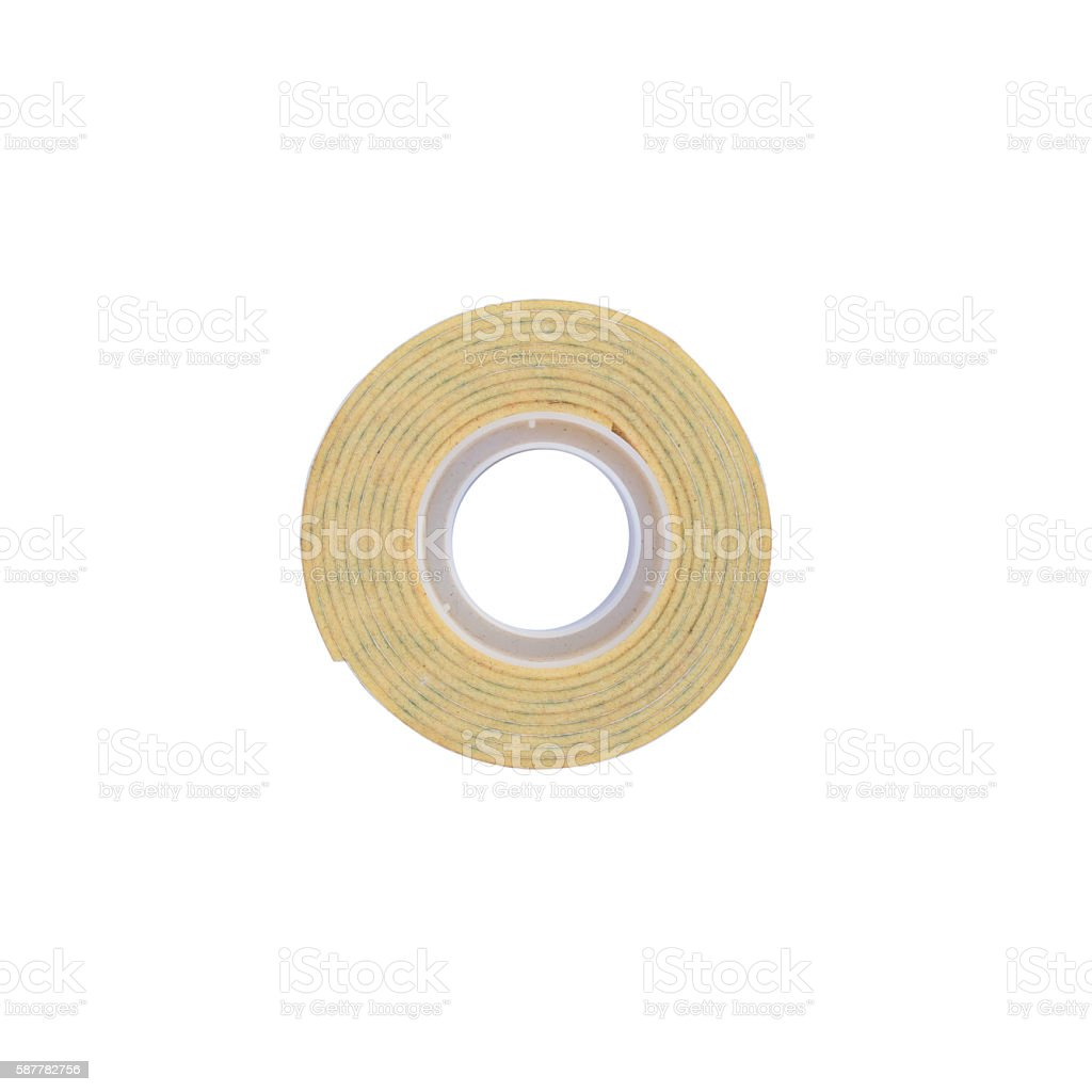 double sided tape isolated on white background stock photo