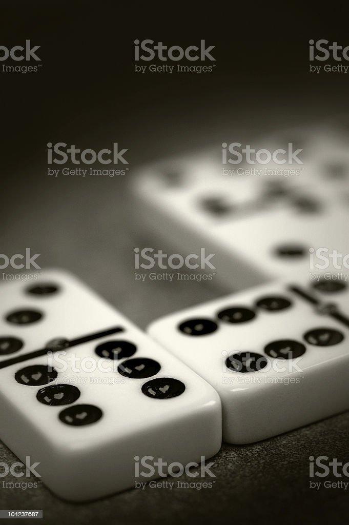 Double six ivory dominoes stock photo
