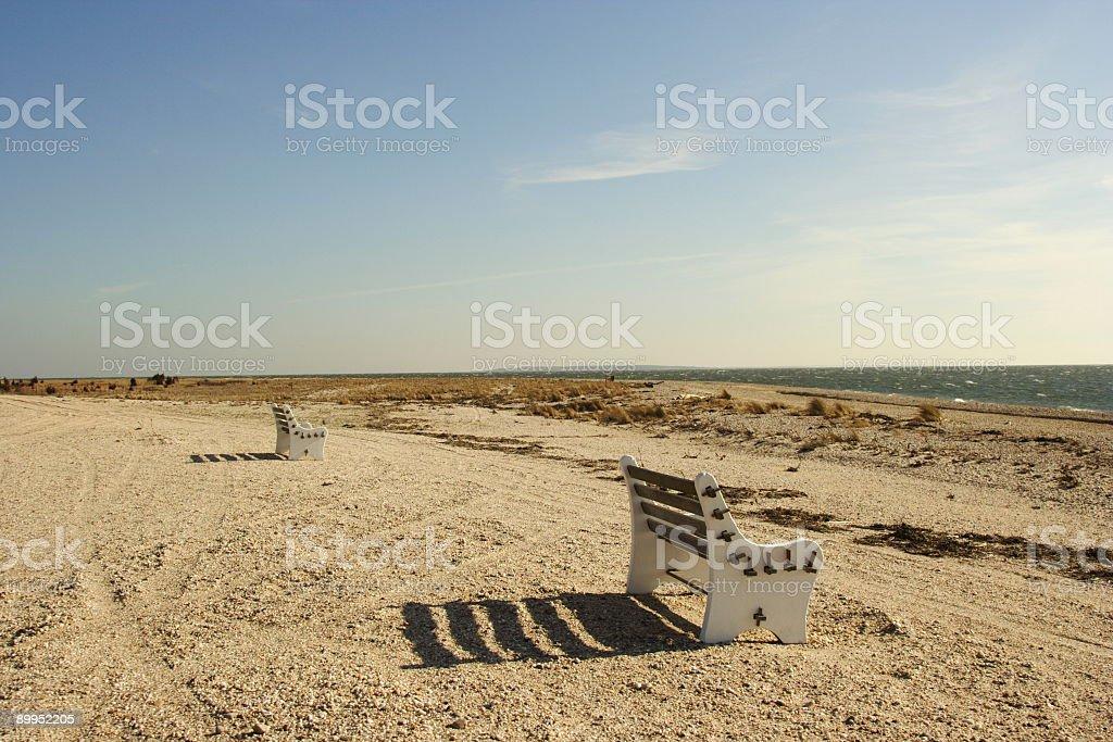 Double solitude stock photo