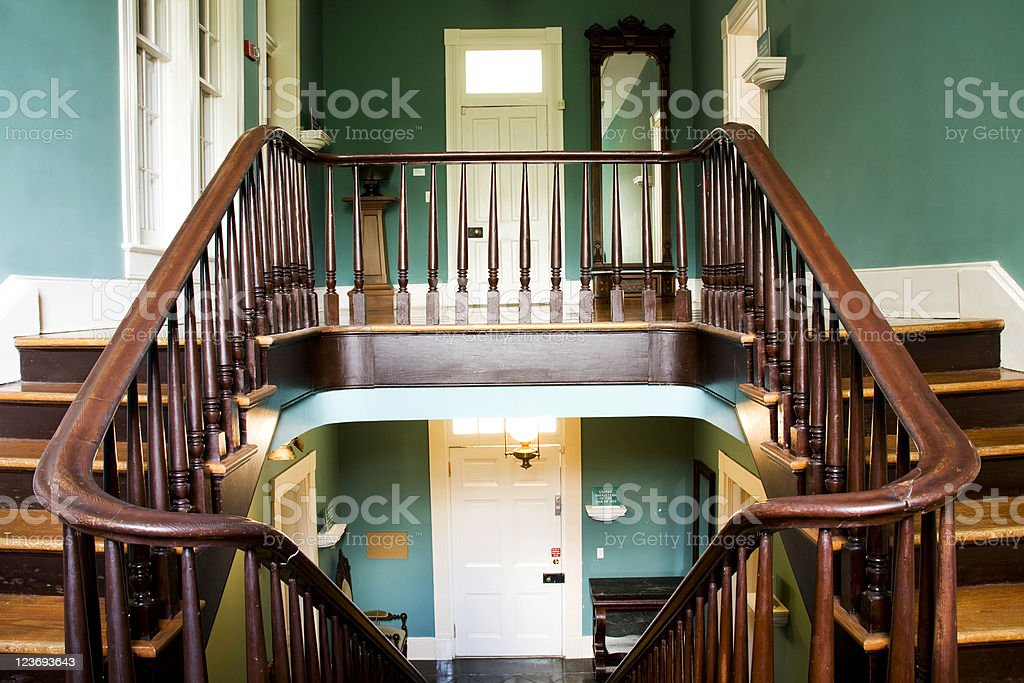 Double stairway royalty-free stock photo