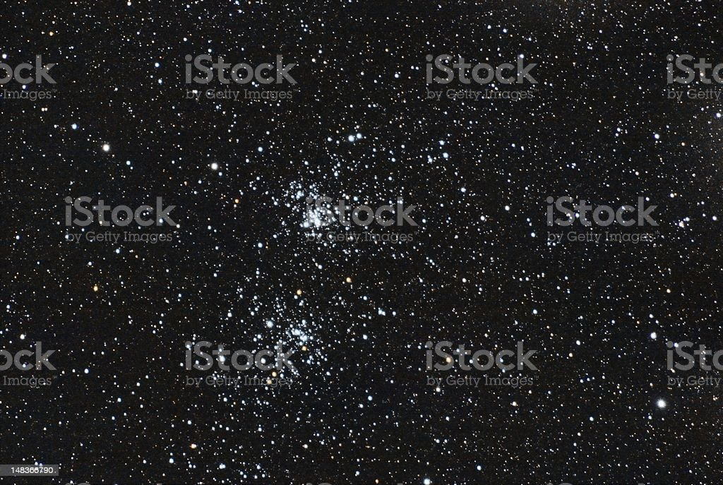 double star cluster royalty-free stock photo