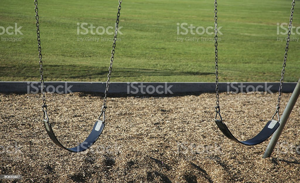 Double swings royalty-free stock photo
