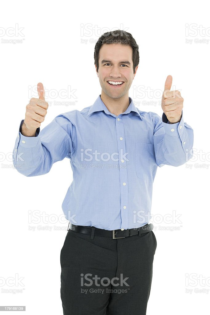 Double Thumbs Up royalty-free stock photo