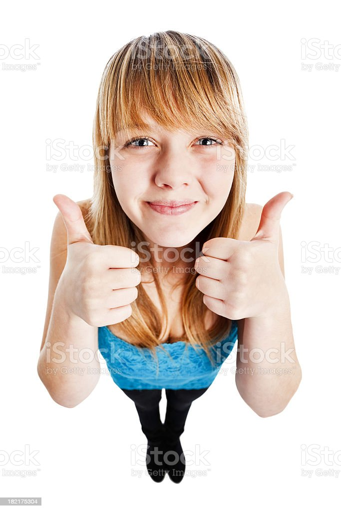 Double thumbs-up royalty-free stock photo
