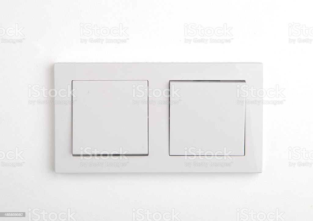 Double wall switch. stock photo