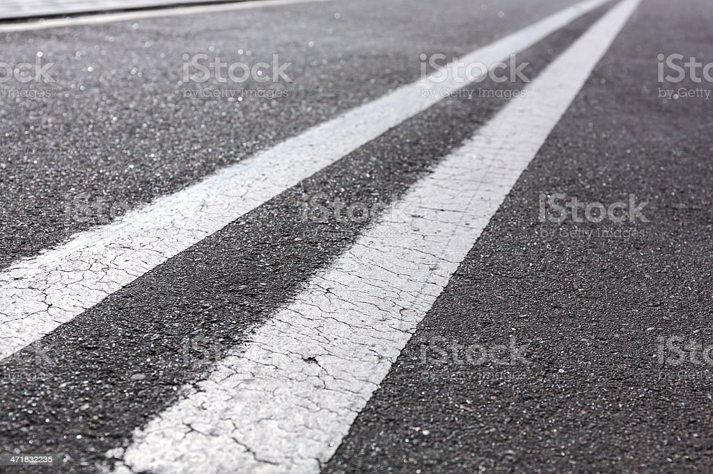 Double white lines royalty-free stock photo