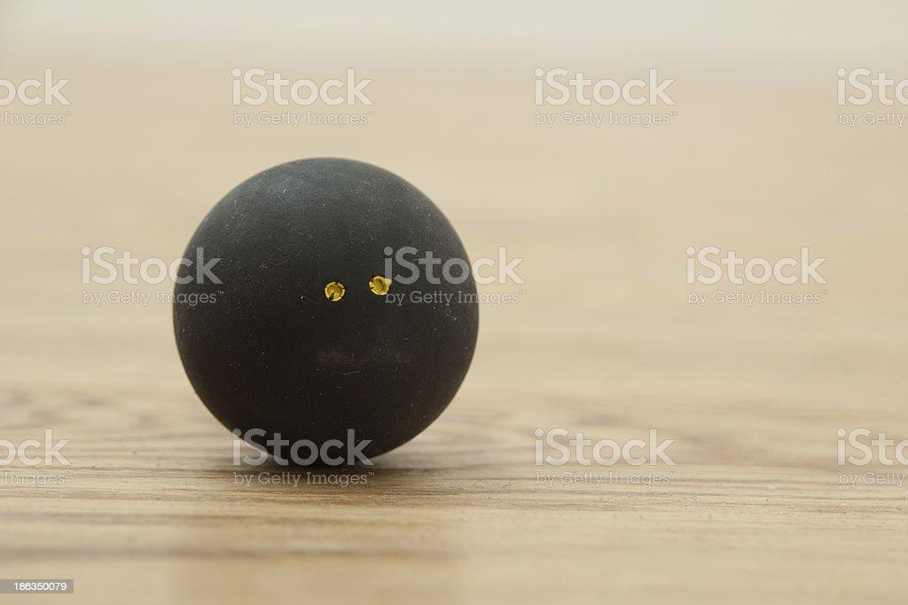 Double yellow dot squash ball. royalty-free stock photo