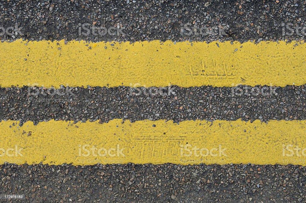 Double yellow line royalty-free stock photo