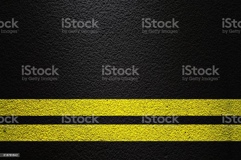 Double yellow line stock photo