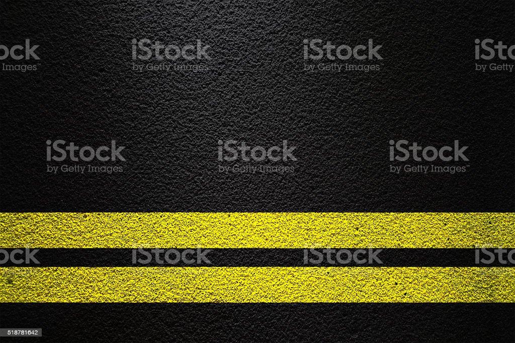 Double yellow line stock photo