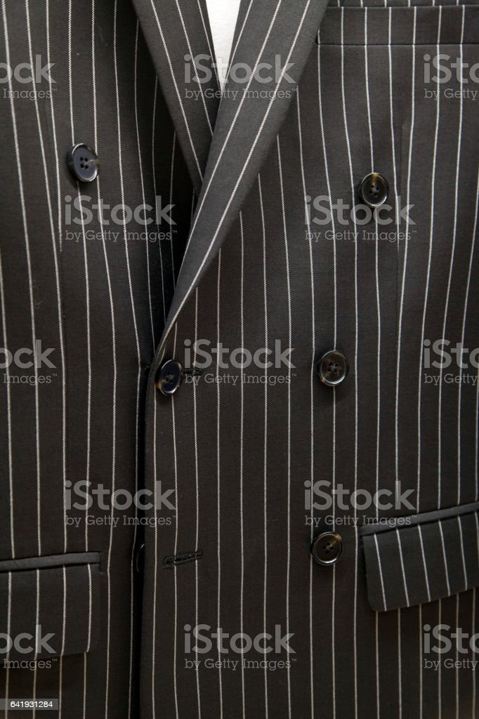 Double-breasted suits stock photo
