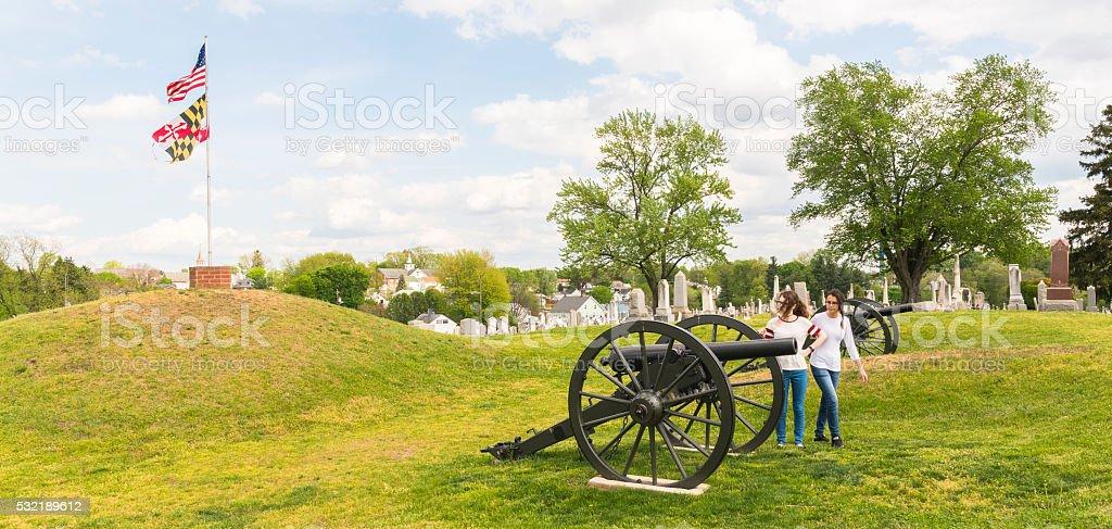 Doubleday Hill - Civil War's national monument, Williamsport, Maryland, USA stock photo