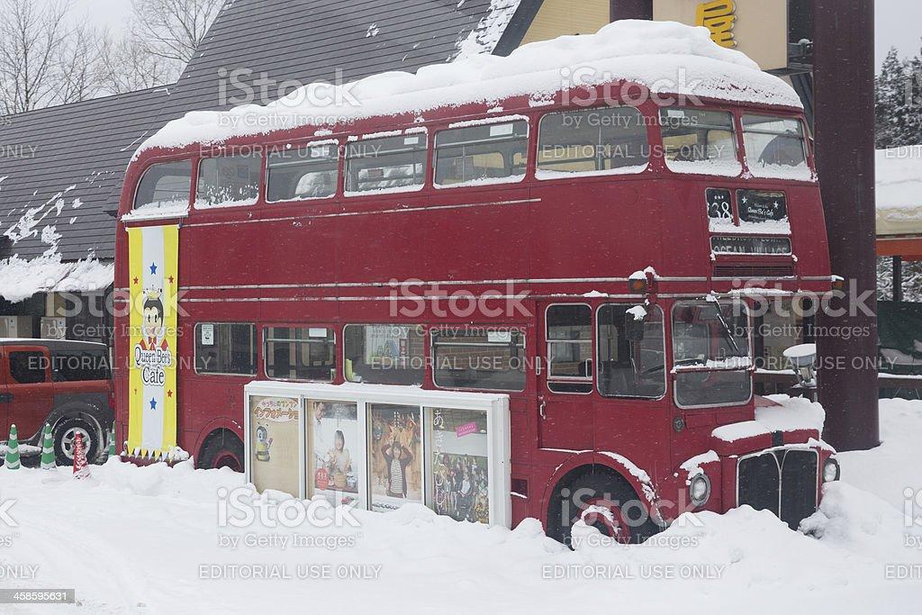 Double-decker Bus in Japan stock photo